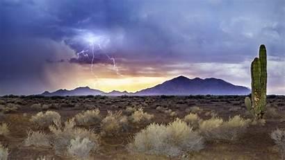 Arizona Monsoon Sunset Sandstorm Lightning Wallpapers Sunsets
