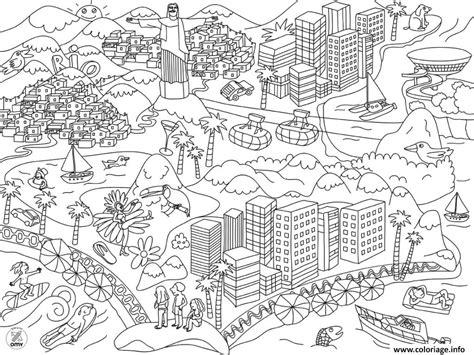 coloriage xxl bresil rio dessin