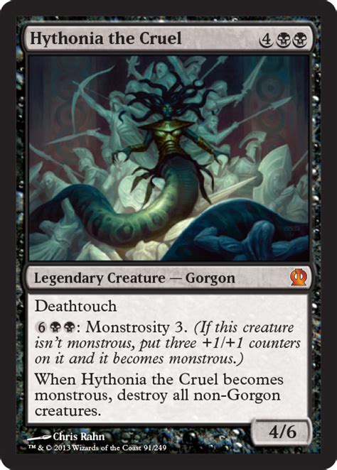 mtg mill deck commander ths hythonia the cruel gatheringmagic preview card
