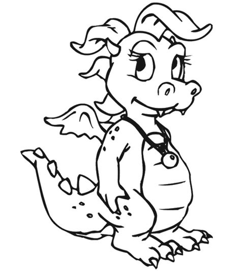 Categories Dragon Coloring Pages
