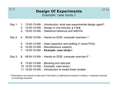 experimental design exles study experiment