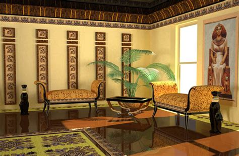 egyptian interior style modern room decorating ideas
