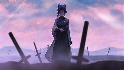 Anime Shinobu Kochou Naruto Demon Yaiba Kimetsu