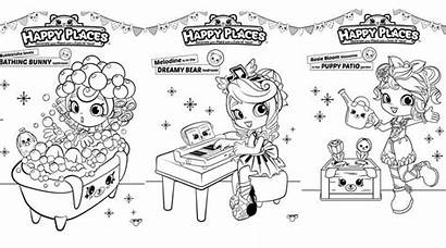 Shopkins Coloring Pages Happy Places Shoppies Colouring