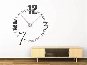 Wanduhr In Worten : wandtattoo uhr worte als designer wanduhr mit zeiger ~ Michelbontemps.com Haus und Dekorationen