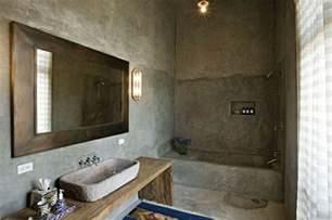 badezimmer rustikal wandfarbe mit betonoptik wände aus beton