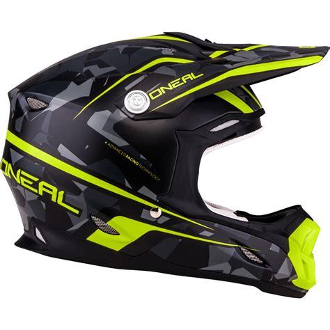 motocross helmet oneal 7 series camo yellow grey motocross helmet acu