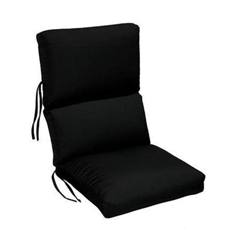 sunbrella black outdoor dining chair cushion 1573310210