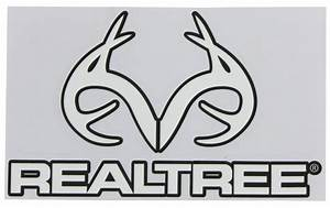Realtree Outfitters Flat Logo Decal - White - Qty 1 SPG ...