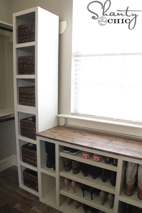 diy closet shelf diy closet storage towers shanty 2 chic