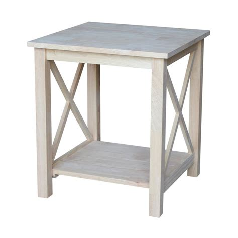 what to put on end tables besides ls international concepts hton unfinished end table ot 70e