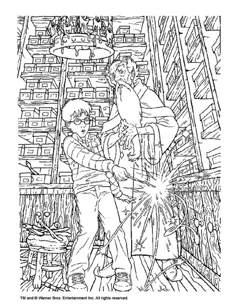 albus dumbledore  harry potter coloring pages