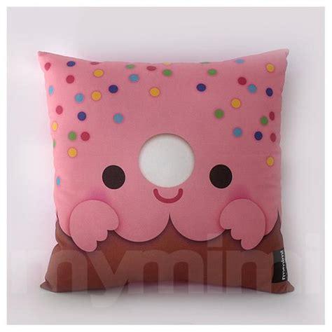 Babybee Kid Pillow Pink 12 x 12 pink donut pillow stuffed room decor