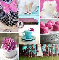 Pink Purple and Turquoise Wedding