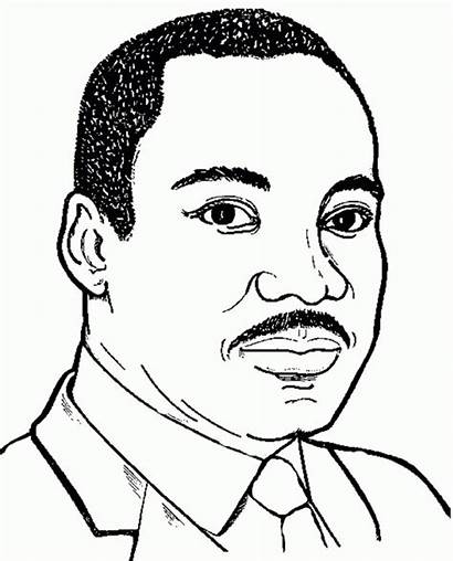 Coloring Luther King Martin Jr Printable Pages