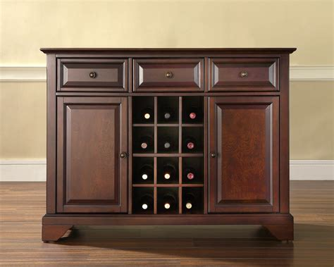 liquor cabinet furniture crosley lafayette buffet server sideboard cabinet with