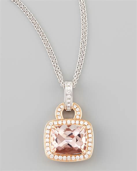 Frederic Sage 18k Rose Gold Pave Diamond Morganite. Gold Craft Beads. Engraved Chains. Unusual Pendant. Butterfly Engagement Rings. Anklet 14k. Open Bangles. Fake Engagement Rings. Kays Wedding Rings
