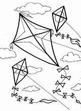 Coloring Pages Kite Wind Kites Flying Printable Template Sheets Crafts Familycorner Colouring Preschool Clipart Sheet Number Blowing Spring Activities Paper sketch template