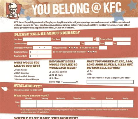 KFC - Aplicacion de Trabajo para Kentucky Fried Chicken