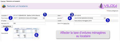 montant taxe ordure menagere g 233 rer la taxe d ordures m 233 nag 232 res avec le logiciel gestion locative procedure