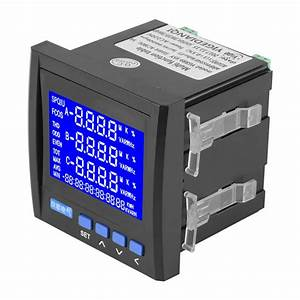 High Accuracy Electric Meter Multifunction 3 Phase Electric Current Voltage Frequency Power