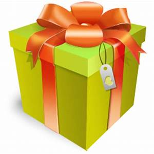 Christmas Gift With Ribbon Icon PNG ClipArt Image