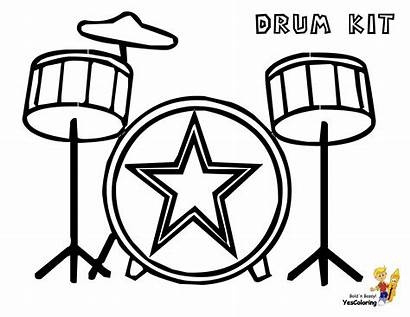 Coloring Drum Musical Drums Pages Kit Instrument