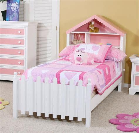 twin size bed  dollhouse headboard picket fence