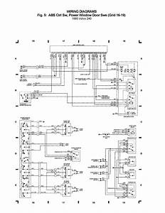 Volvo 240  1993  - Wiring Diagrams - Abs Crtl Sw  Power Window Door Sws  Grid 16