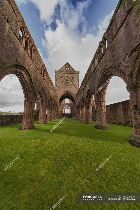 Ruins Of Sweetheart Abbey — History Sightseeing Stock