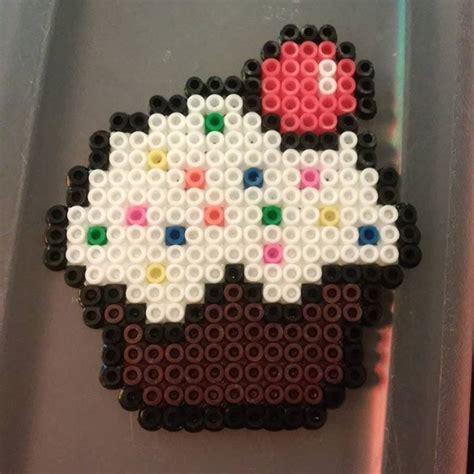 cupcake perler beads  crystalrussell hama boncuk boncuk
