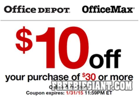 Office Depot Coupons Printable 2015 by 10 30 At Office Depot Or Office Max Printable Coupon