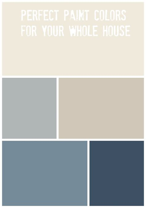 whole house paint palette of home