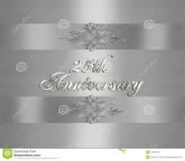 25 wedding anniversary 25th wedding anniversary invitation stock photography image 10297542