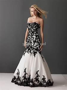 Black lace mermaid wedding dresses naf dresses for Black white wedding dresses
