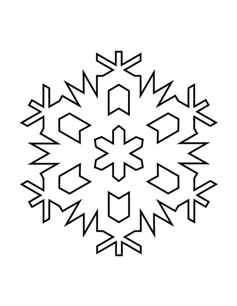 small snowflake template snowflake stencil 977 h m coloring pages