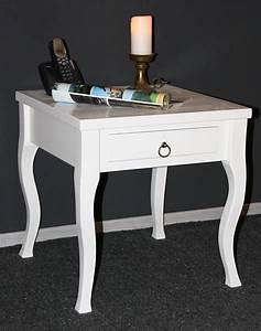Beistelltisch Weiß Mit Schublade : massivholz beistelltisch wei couchtisch mit schublade nachttisch nachtkommode ~ Bigdaddyawards.com Haus und Dekorationen