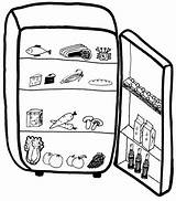 Fridge Clipart Refrigerator Clip Cliparts Drawing Freezer Milk Empty Mini Midea Library Getdrawings sketch template