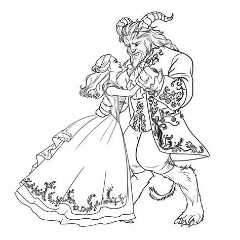 Kleurplaat Prinses En Het Beest by Leuk Voor En Het Beest Dansen