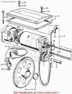 Honda Cb750 Four 1973 Cb750k3 Usa Starter Motor