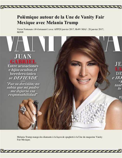 Une Vanité by Pol 233 Mique Autour De La Une De Vanity Fair Mexique Avec