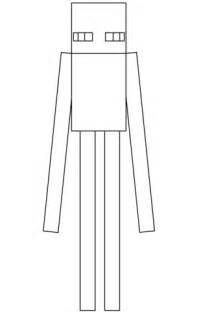 minecraft enderman coloring page  printable coloring pages