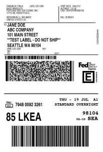FedEx Create Shipping Label