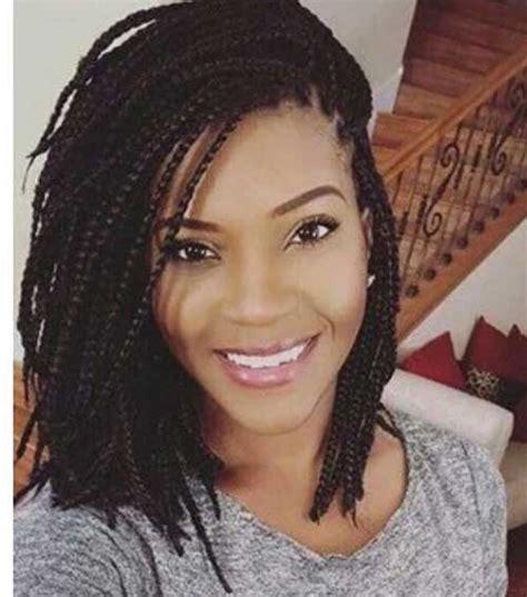 amazing hairdos for black ladies with box braids short