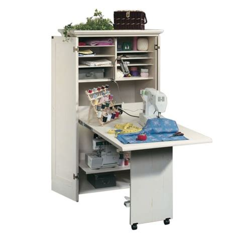 sauder sewing craft table cabinet storage sauder harbor view craft armoire 158097 free shipping