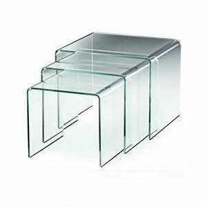 Table Basse Gigogne : meuble gigogne en verre transparent t ~ Zukunftsfamilie.com Idées de Décoration