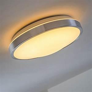 Deckenlampe Badezimmer Led : led deckenlampe wutach rund 900 lumen 12 watt led warmweiss ip44 badezimmer geeignet ~ Markanthonyermac.com Haus und Dekorationen