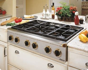 dacor esgsch   gas cooktop    btu sealed burners continuous grates