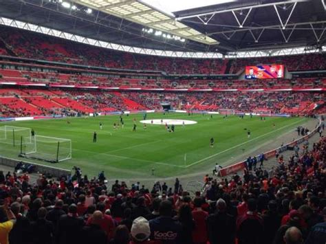 Wembley Stadium, section 129, row 31, home of England ...