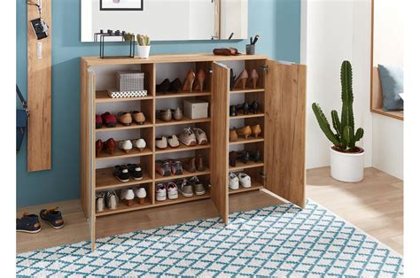 Meuble Chaussures Bois Et Verre Blanc 30 Paires